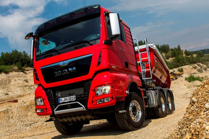 On the road, the MAN TGX D38 stands out due to its special desig